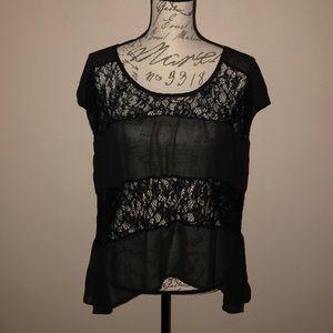 Studio Y Black Lace Blouse